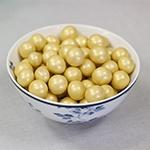 Gouden crispy chocolade ballen