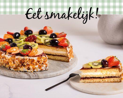 Kaart bij taart en gebak