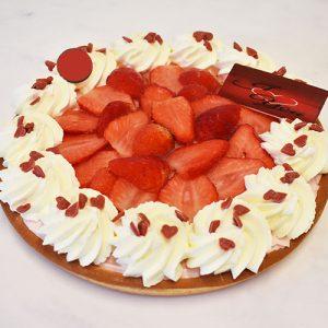 Moederdag Aardbeienvlaai (10 personen)